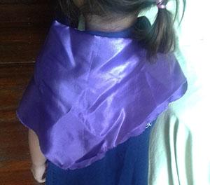 ハロウィンマント2歳手作りサテン魔女