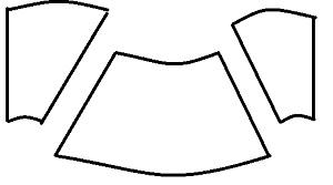 ハロウィン魔女マントのパターン型紙